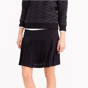 J.Crew Pleated Lattice Skirt in Black